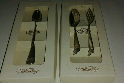 LENOX Williamsburg Royal Shell Baby 2 PC Set & Infant Feating Spoon Stainless