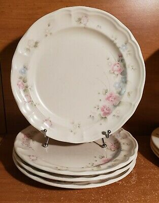 "Pfaltzgraff TEA ROSE Dinner plate set(s) of 4, 10 3/8"", Floral, Made in USA"