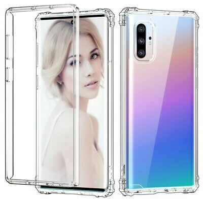 For Samsung Galaxy Note 10 Plus S10+ Shockproof Bumper Clear Silicone Case Cover