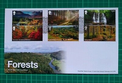 2019 Forestry Commision Forests set of 6 on FDC Tallents House Postmark