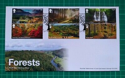 2019 Forestry Commision Forests set of 6 on FDC Sherwood Nottingham GB FDC PMK