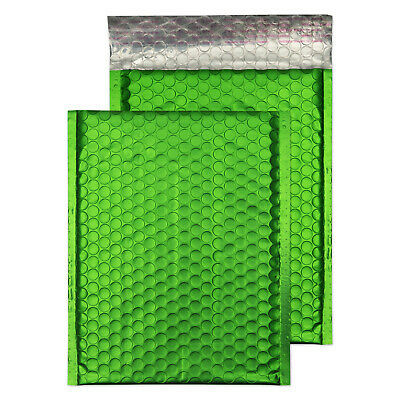 5 - 1000+ DVD Metallic Bubble Padded Envelope Bag Avocardo Green 250mm x 180mm