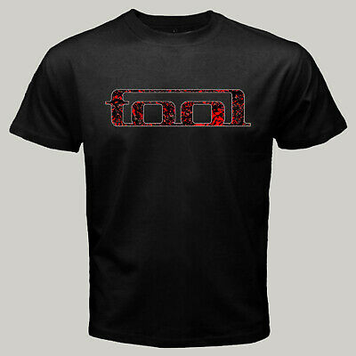 New TOOL Band Red Forest Pattern American Rock T-Shirt Men's Black Tee