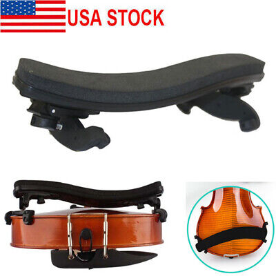 Adjustable Violin Shoulder Rest Pad Supporter Size 3/4 4/4 Height Angle New US