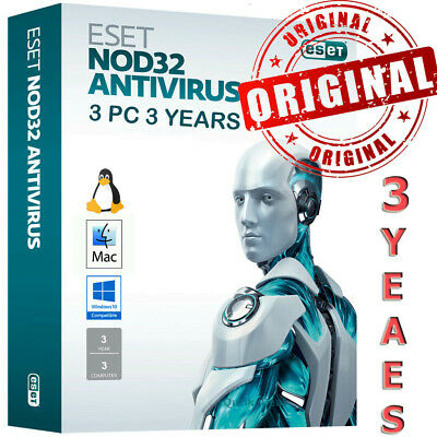 Eset NOD32 Antivirus Internet Security v4.0-12 3 PC 3 Year License  Win 7,8,10
