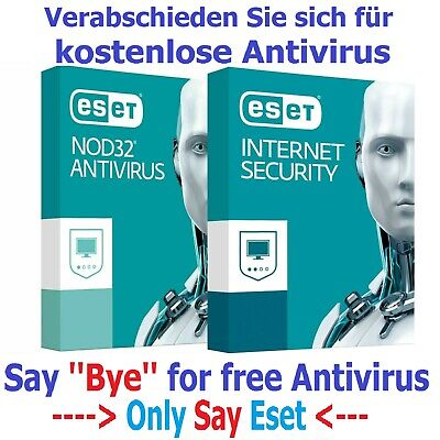 ESET NOD32 Antivirus / Internet Security 2020 3 YEAR 1PC Version 12 License Key