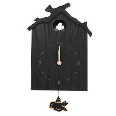 Antique  Black Wall Cuckoo Clock Swinging Bird DIY Home Retro Decor Xmas Gift