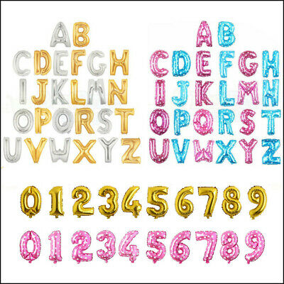 Letter & Number Foil Balloons Air Large Happy Birthday Party Ballon 5 Colors