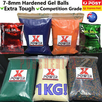 7-8MM Gel Balls HARDENED Milky White Glow in Dark Water Bullets for Gel Blaster