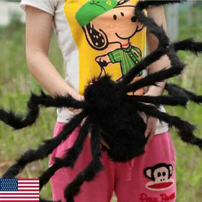 US Halloween Hanging Decoration Giant Realistic Hairy Big SPIDERS Decor 2 Styles