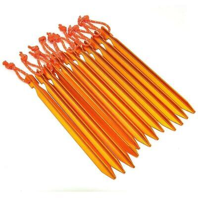 Camping Trip Aluminum Alloy Tent Pegs Stakes Lightweight Outdoor Metal Nails