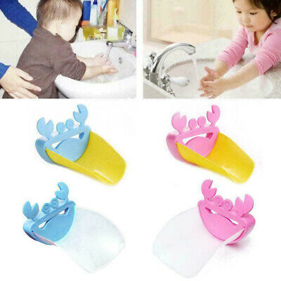Crab Faucet Extender Kids Happy Fun Tubs Baby Hand Washing Bathroom Sink New