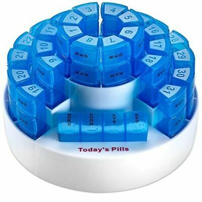 Monthly Pill Box by MEDca - Smart Prescription Organisation with Multiple Daily