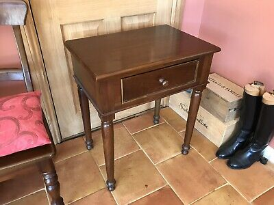 SIDE TABLE • MAHOGANY • HALL OCCASIONAL LAMP • DRAWER • W:60cm D:40cm H:71cm