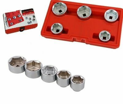 New Oil Filter Socket Set Cap Wrench Kit 5 Piece 24 27 32 36 38 Mm Ct1780