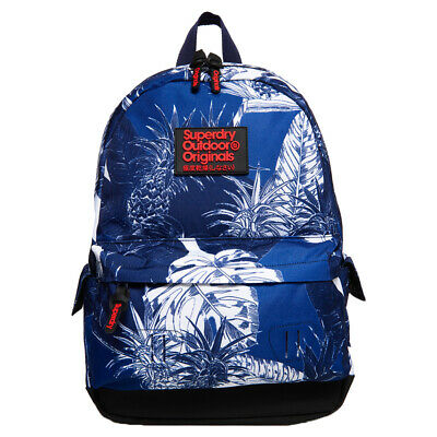 Superdry NEW Women's Print Edition Montana Backpack - Chloe Tropical Blues BNWT