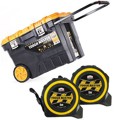 Tool Chest Tough Master 28 inch/72cm With Pocket Tape Measures 5M/16ft Pack of 2