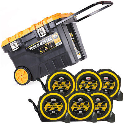 Tool Chest Tough Master 28 inch/72cm With Pocket Tape Measures 5M/16ft Pack of 6