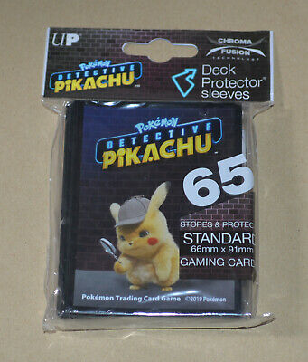 POKEMON (65 Card Sleeves) Deck Protectors pack = Detective Pikachu *New*