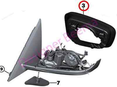 Right JS BMW X5 X6 F15 F16 Wing Door Mirror Support Frame