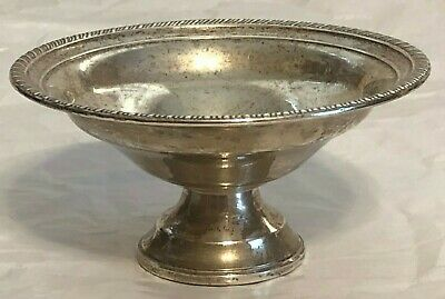 Antique Sterling Silver (Reinforced With Cement) Compote