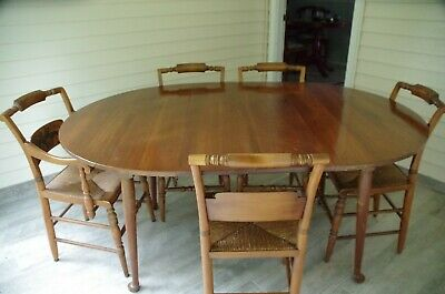 Vintage Hitchcock Colonial 6 piece wood dining room set