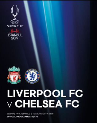 Liverpool Chelsea Official August  2019 Super Cup Istanbul Programme