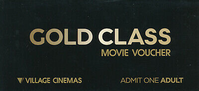 Village Gold Class Ticket For Adult X1 (RRP $42) (Free Postage)