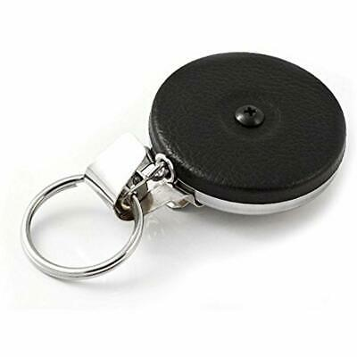 KEY-BAK Original Chain Retractable Key Holder With 24&quot Stainless Steel Black