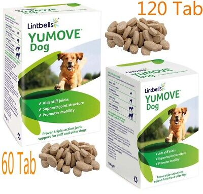 Lintbells YuMOVE Dog Joint Supplement for Stiff and Older Dogs 60/120 Tabs New