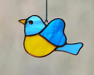 Stained Glass Beautiful Handmade Bird Suncatcher | Window Decoration
