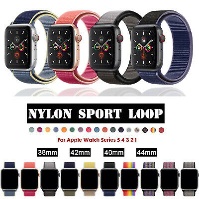 38/42/40/44mm Nylon Sport Loop iWatch Band Strap for Apple Watch Series 4 3 2 1