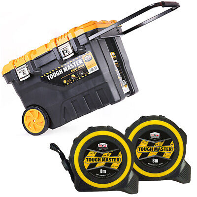 Tool Chest Tough Master 28 inch/72cm With Pocket Tape Measures 8M/26ft Pack of 2