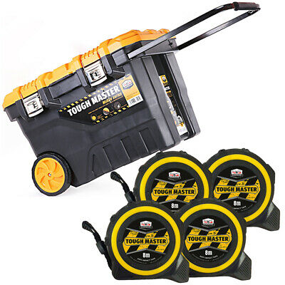 Tool Chest Tough Master 28 inch/72cm With Pocket Tape Measures 8M/26ft Pack of 4