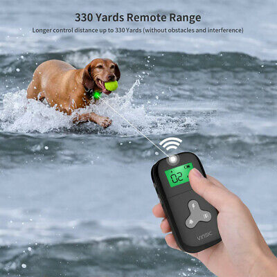 Remote Control Dog Cat Electronic Collar Shock Trainer Stop Barking Pet Training