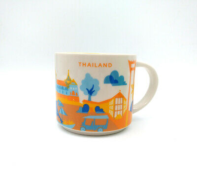 Starbucks Thailand Ceramic YAH City You Are Here Collection 14oz Coffee Mug Cup