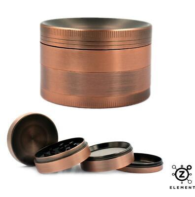 63mm Bronze Metal Aluminium Hand Grinder 4 Part Tobacco Herb Crusher Muller EU