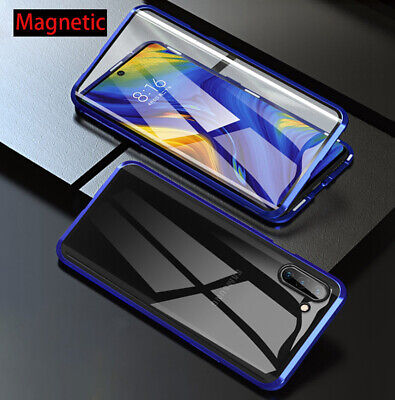 360° Protect Magnetic Double-sided glass Metal Frame Slim Case Cover For Samsung
