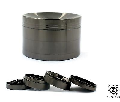 63mm Gun Metal Grey Aluminium Hand Grinder 4 Part Tobacco Herb Crusher Muller EU