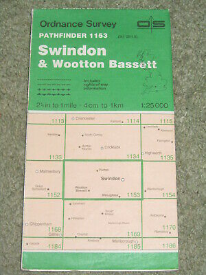 Ordnance Survey Pathfinder map sheet 1153 (SU 08/18) Swindon & Wootton Bassett