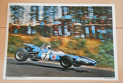 PUBLICITE ELF 1970 - Matra elf type MS 80 - PILOTE ELF COURSE AUTOMOBILE