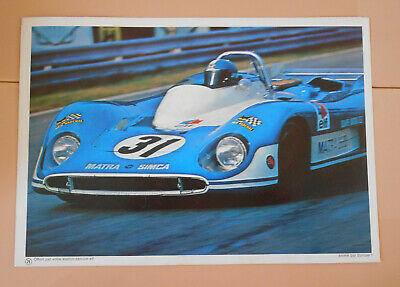 PUBLICITE ELF 1970 - Matra elf type MS 660   - PILOTE ELF COURSE AUTOMOBILE