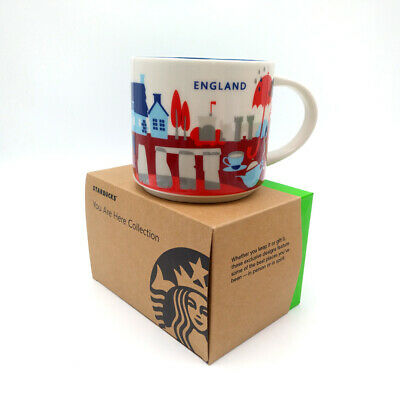 Starbucks Ceramic You Are Here Collection England YAH City Coffee Mug Cup 14oz