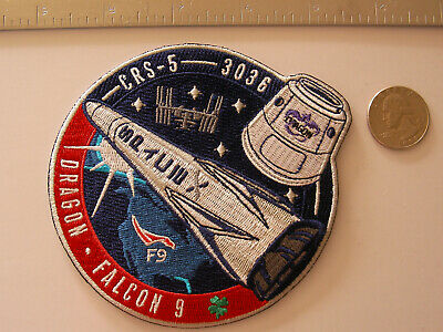 SpaceX Employee Serial Numbered CRS-5 Patch Falcon 9 F9-14 NASA