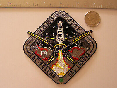 "SpaceX Employee Numbered OrbComm 2 Landing ""The Falcon Has Landed"" Patch F9-21"