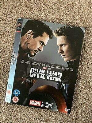 Marvel Phase 3 O-Ring CAPTAIN AMERICA CIVIL WAR DVD sleeve (no disc/case/movie)