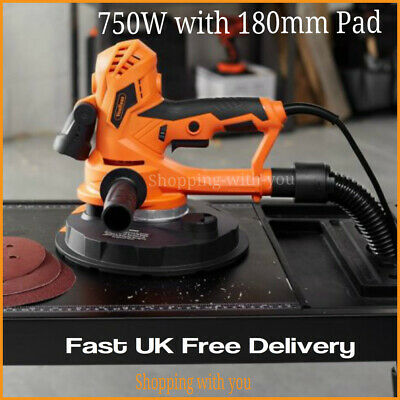 Electric Plasterboard/Drywall Sander Wall Ceiling 750W Sander With 180Mm Pad