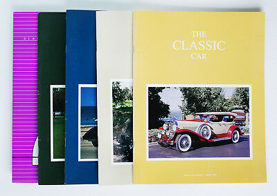 Classic Car Club of America; The Classic Car Magazine, Full Year 4 issues, 1997