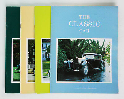 Classic Car Club of America; The Classic Car Magazine, Full Year 4 issues, 1985
