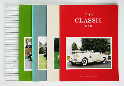 Classic Car Club of America; The Classic Car Magazine, Full Year 5 issues, 1993